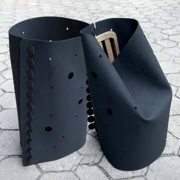 Beton_S chair transformers_black