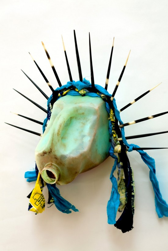 Romuald Hazoum__,Libert__,(side view)2009,Found Objects, 31 x 51 x 25 cm. Photo by Jonathan Greet, Image Courtesy of October Gallery,London