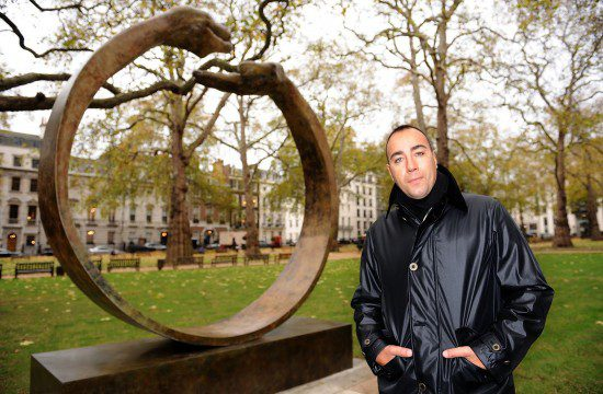 Lorenzo Quinn's Give & Take III unveiled in Berkeley Square, London