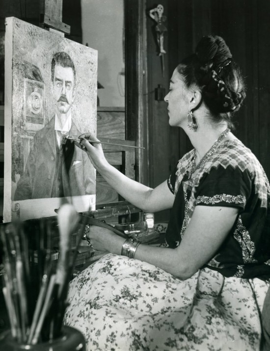 frieda kahlo paining the portrait of her father