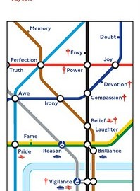 Barbara Kruger Tube map cover May 2010