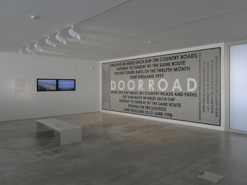 Hamish Fulton Walk-Installation view Turner Contemporary 2012-3-Courtesy David Grandorge