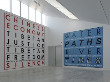 Hamish Fulton Walk-Installation view Turner Contemporary 2012-5-Courtesy David Grandorge