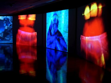 Nalini Malani (India 1946) Mother India: Transactions in the Construction of Pain 2005. Video play; five video projectors in sync, sound, 5 minutes. Purchased with funds provided by the Art Gallery Society of New South Wales Contempo Group 2011.