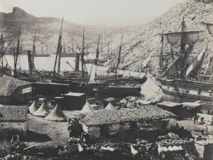 Roger Fenton, Cossack Bay, Balaklava, 1855.