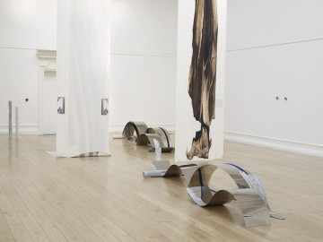 Installation view from Alice Channer: Out of Body at the South London Gallery, 2012. Photo: Andy Keate. Image courtesy the artist and the South London Gallery.