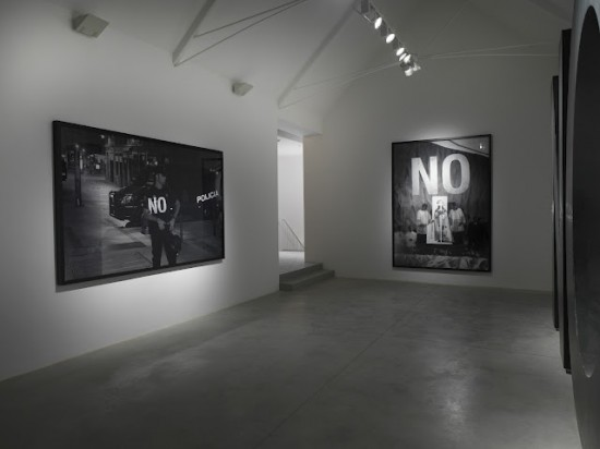 Santiago Sierra, Dedicated to the Workers and Unemployed, installation view, Lisson Gallery, London,  2012.