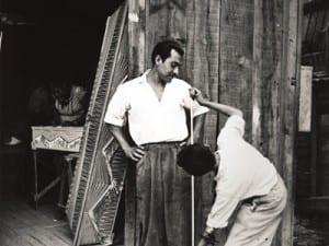 Nacho López, Constructores de ataúdes, Calle Nonoalco, Ciudad de México (Coffin Manufacturers, Nonoalco Street, Mexico City), 1959.