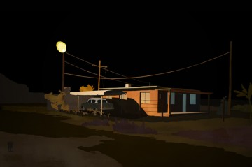Finn Dean, House at Night. Courtesy the artist.