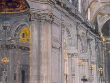 Arturo Di Stefano St Paul's (Study) 2011 oil on linen 45.7 x 61 cm 18 x 24 inches