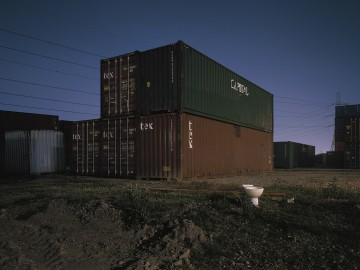 Shipping Containers And Toilet, IG11