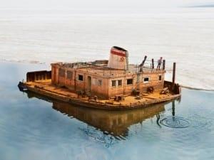 Evgenia Arbugaeva. Rusty Barge. Tiksi.