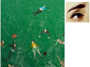 Alex Prager, 3:14 pm, Pacific Ocean And Eye #9 (Passenger Casualties) (Diptych), 2012.