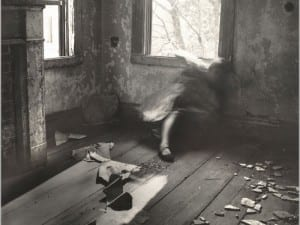 Francesca Woodman, House #3, Providence, Rhode Island, 1976. National Gallery of Art, Washington, Gift of the Heather and Tony Podesta Collection.