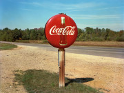 Jim Dow, Coca-Cola Sign on Highway, US 78, Burnsville, Mississippi, 1978. Detail.