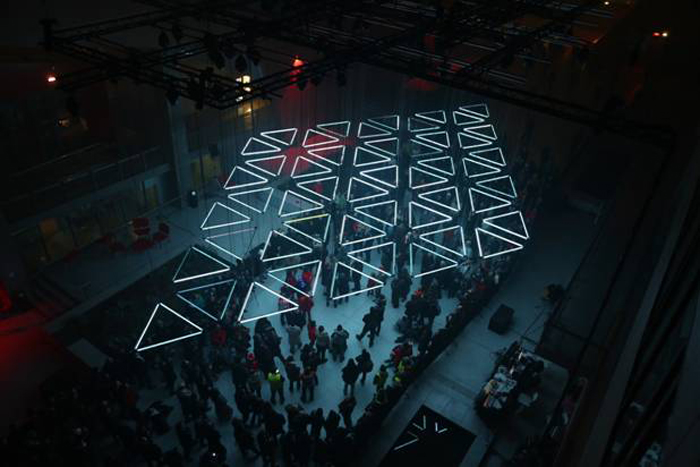 Interview with Light-artist Christopher Bauder (WHITEvoid) on New Installation GRID