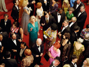 Alex Prager, Crowd #10 (Imperial Theatre), 2013. Image courtesy of the artist, Lehmann Maupin, New York and Hong Kong, Yancey Richardson Gallery, New York, and M+B Gallery, Los Angeles.