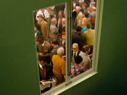 Alex Prager Crowd #5 (Washington Square West) 2013  Image courtesy of the artist, Lehmann Maupin, New York and Hong Kong, Yancey Richardson Gallery, New York, and M+B Gallery, Los Angeles.