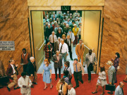Alex Prager Crowd #8 (City Hall) 2013  Image courtesy of the artist, Lehmann Maupin, New York and Hong Kong, Yancey Richardson Gallery, New York, and M+B Gallery, Los Angeles.