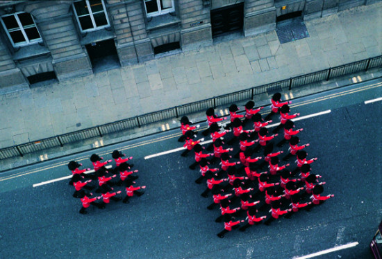 Francis Alys Guards, 2005 Hi-res aerial guards shot