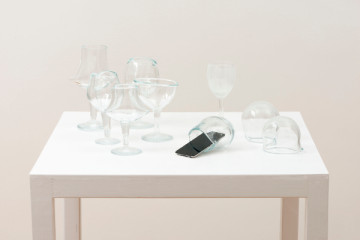 Cevdet Erek, Jingle, 2012 glass, ipod, sound, dim