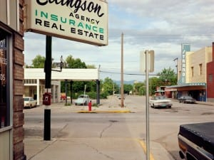 Stephen Shore, Second Street East at First Avenue East, Kalispell, Montana 22 August 1974.