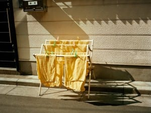 Emily Shur, Yellow Towels, Sugamo, 2009. From the Japan series. Courtesy of Emily Shur