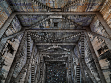 Edward Burtynsky, Stepwell #4, Sagar Kund Baori, India, 2013, (c) Edward Burtynsky, courtesy of Flowers Gallery, London