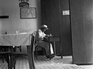 José Medeiros. Man sitting in a café, probably in the Northeast, Undated. Courtesy of Instituto Moreira Salles, São Paulo, Brazil.