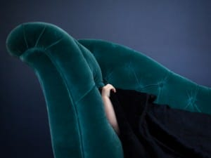 Cig Harvey. Teal Chaise, Scout, Rockport, Maine, 2014.