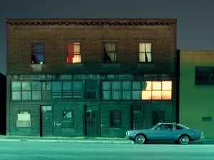 Greg Girard, Building and Car, Franklin Street, 1981.