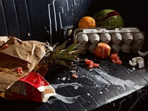 Holly Andres, Backseat Vanitas II: Groceries, 2012. Courtesy of Holly Andres and The Robert Mann Gallery.