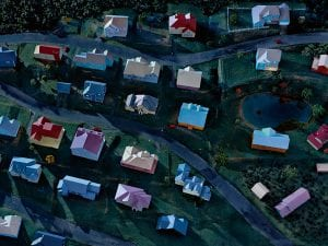 James Casebere, Landscape with Houses (Dutchess County, NY) #2, 2009. © James Casebere. Courtesy of the artist and Sean Kelly, New York.