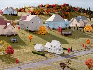 James Casebere, Landscape with Houses (Dutchess County, NY) #8, 2010. © James Casebere. Courtesy of the artist and Sean Kelly, New York.