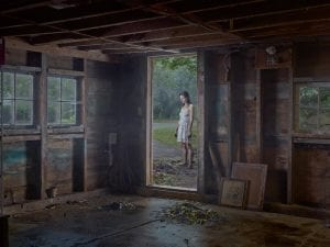 Gregory Crewdson, The Shed, 2013. Digital pigment print. 114.5 x 146.2 cm (framed). Ed. 1/3, plus 2 APs. © Gregory Crewdson. Courtesy of Gagosian Gallery.