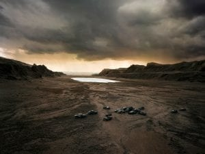 Thomas Wrede, <em>In the Tertiary Valley</em>, 2008. 95cm x 120cm / 140cm x 180cm. From the series Real Landscapes.