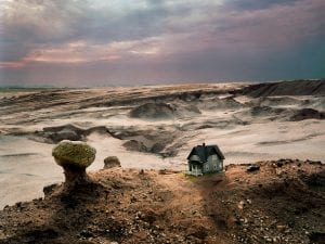 Thomas Wrede, <em>House over the Dunes</em>, 2007. Detail. 95cm x 120cm / 120cm x 150cm. From the series Real Landscapes.