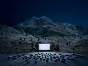 Thomas Wrede, <em>The Luminous Screen</em>, 2015. 95cm x 130cm / 140cm x 190cm. From the series Real Landscapes.
