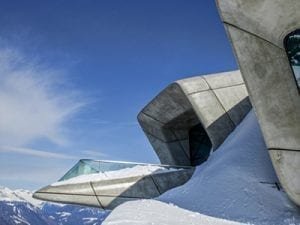 The Messner Mountain Museum, Zaha Hadid, <i>Corones #1</i>, [Kronplatz], Italy, 2015. www.vincentfournier.co.uk