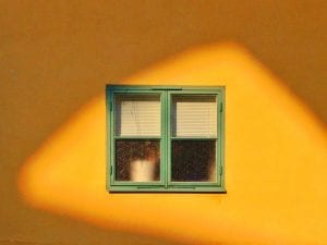 Tekla Evelina Severin, from personal photography project, <i>Sunny</i>. Residential building in Visby, Gotland, Sweden.