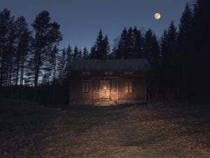 Isabella Ståhl, <i>House in the Woods</i>, from the series <i>In the Shadow of Dusk.</i> www.isabellastahl.com